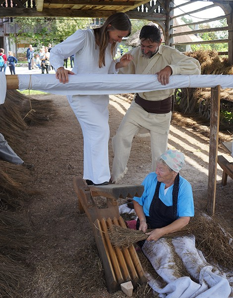 2014 European cultural heritage week – Traditional flax breaking